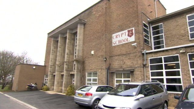 The Crypt School in Gloucester has threatened some pupils with legal action over comments made on Twitter
