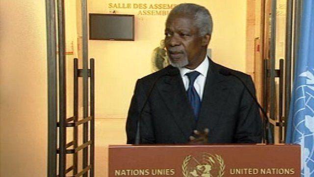 UN and Arab League envoy Kofi Annan