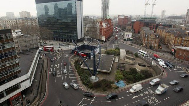 The Silicon Roundabout area in east London