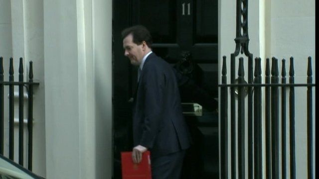 The Chancellor, George Osborne leaving Downing Street