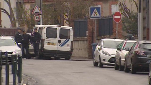 Police in Toulouse street
