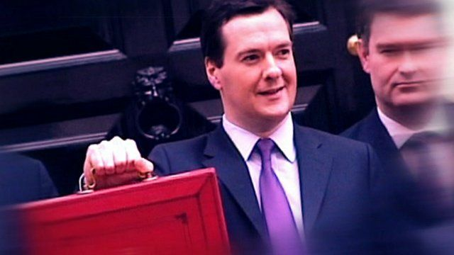 George Osborne with his red box