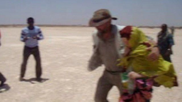 Judith Tebbutt taken to plane in Somalia