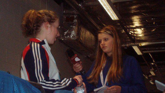 School Reporter Amelia interviewing Georgina Bullen