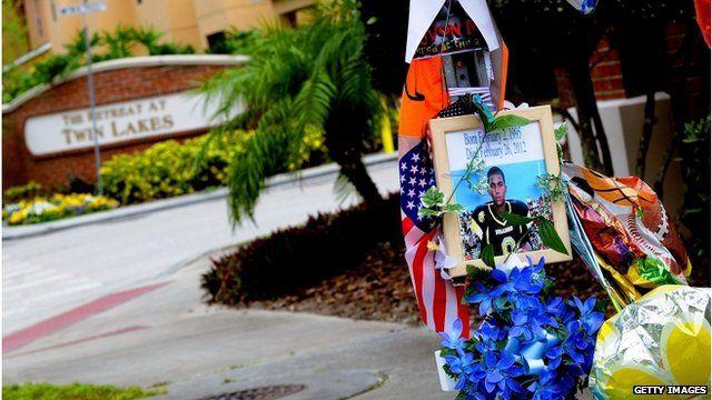 Scene outside Twin Lakes Retreat at site of Trayvon Martin's death