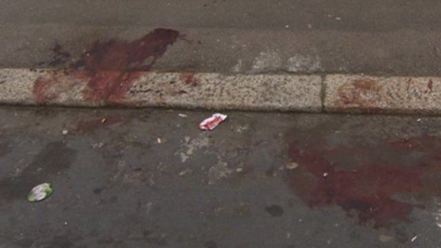 Blood on street
