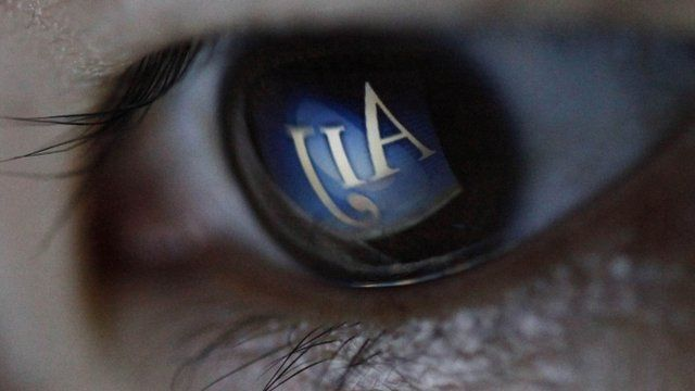 The logo of AIJ Investment Advisors Co is reflected in an eye.