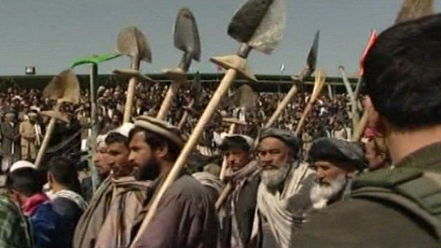 Afghan farmers celebrate their annual festival