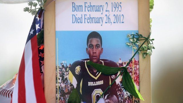 A memorial to Trayvon Martin