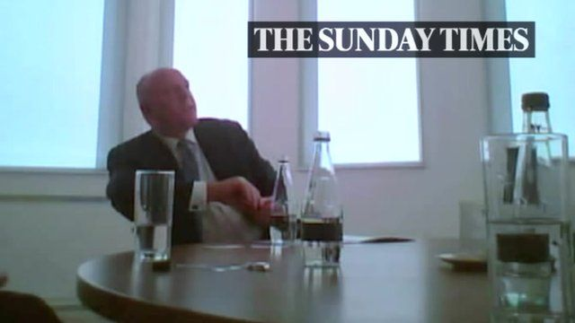 Peter Cruddas filmed by undercover Sunday Times reporters