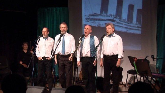The White Star Line-up tells the tale of the Titanic in song