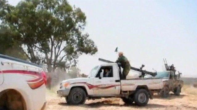 Libyan armed vehicles