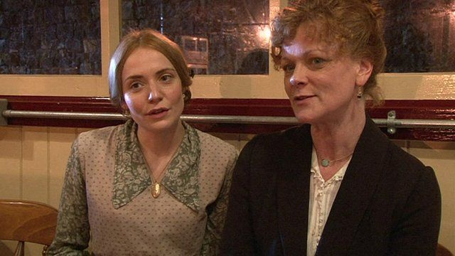 Christine Bottomley and Samantha Bond
