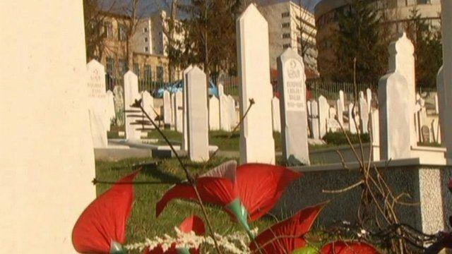 Bosnian graveyard