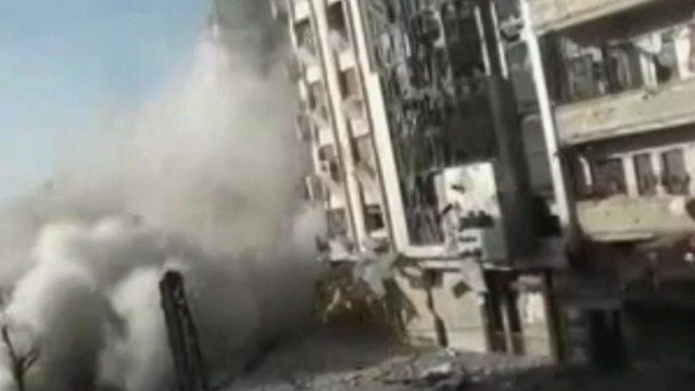 Amateur footage of shelling in Homs, according to activist
