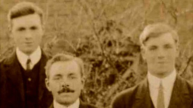 The three brothers (left to right) Stanley, Lewis and Leonard Hickman