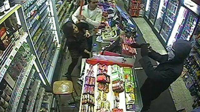 Kapil Vaghela and Trisha Patel facing up to the robber