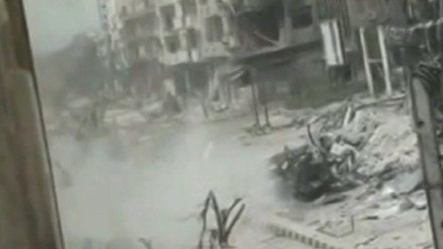 Wreckage in Homs