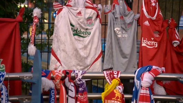 Liverpool shirts and scarves