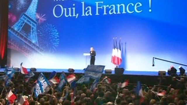 French election rally