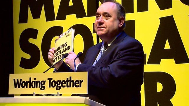 First Minister Alex Salmond launches the SNP council election campaign