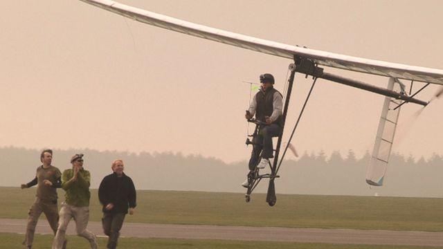 Human-powered plane