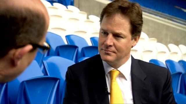 Nick Robinson and Nick Clegg