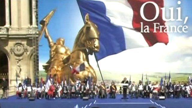 Marine Le Pen on stage