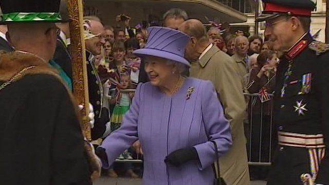 The Queen in Exeter