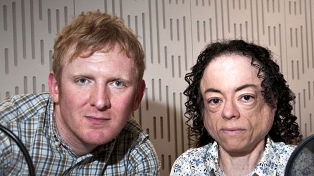 Rob Crossan and Liz Carr, hosts of Ouch!, the disability talk show