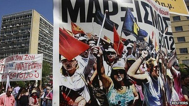 May Day rally in Athens, 1 May, 2012