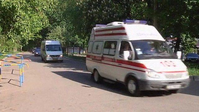 Ambulance bringing Yulia Tymoshenko to hospital on 9/5/2012