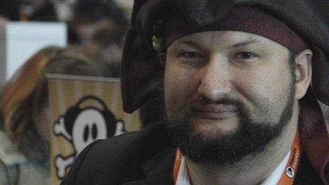 Man dressed as pirate