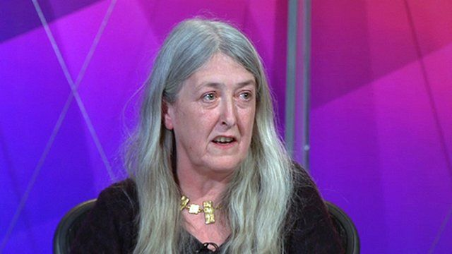 Mary Beard on Question Time
