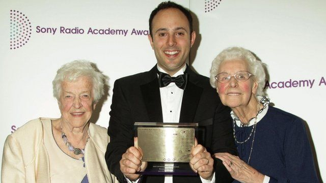 Beryl and Betty collecting awards