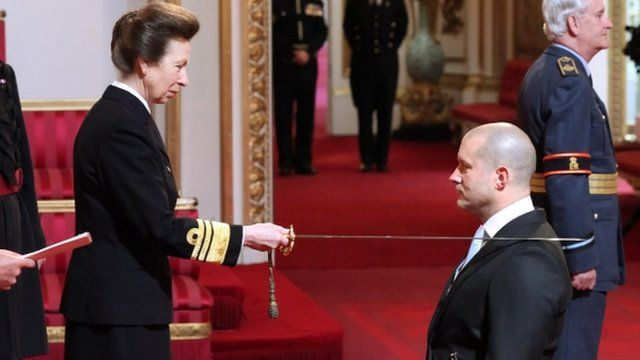 Sir Jonathan Ive knighted by HRH the Princess Royal