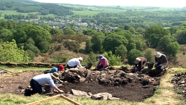 Archaeological dig in Galloway