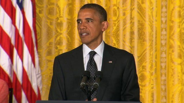 US President Barack Obama speaks at a White House ceremony to award the Medal of Freedom 29 May 2012