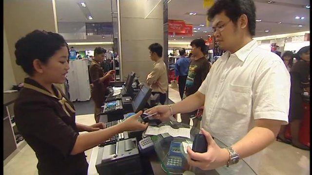 shoppers in Bangkok