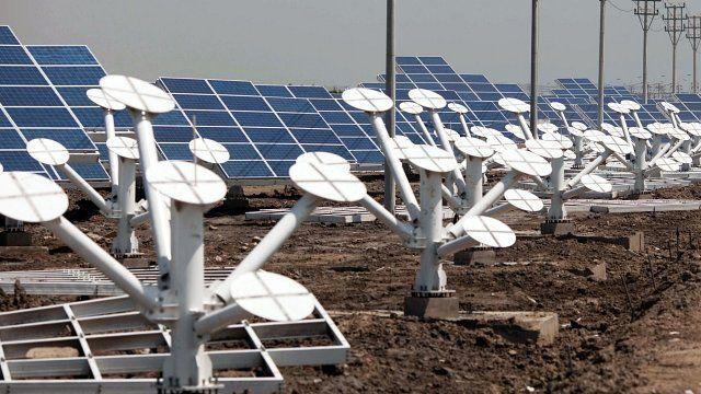 Solar panels near Tianjin, China