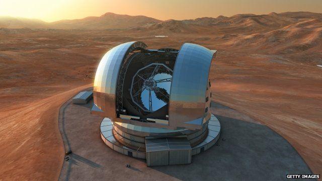 Artist's impression if giant telescope
