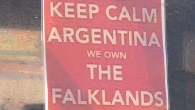 Sign in the Falklands