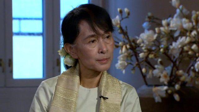 Opposition leader Aung San Suu Kyi