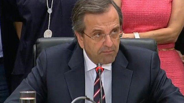 New Democracy leader Antonis Samaras