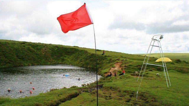 Pop-up lido on Dartmoor
