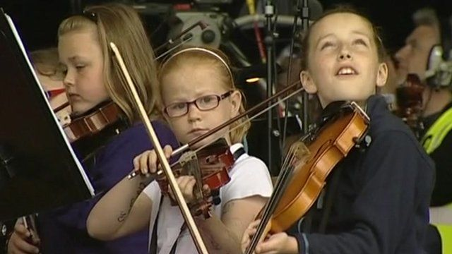 Scottish youngsters in 2012 festival