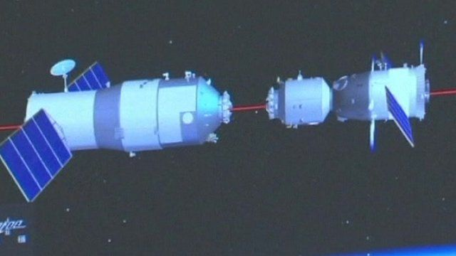 China competes first manual space docking