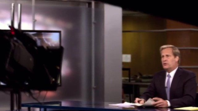 A scene from The Newsroom