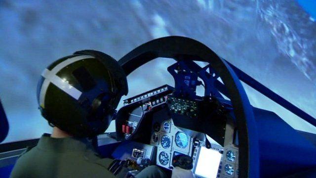 RAF Waddington flight simulator