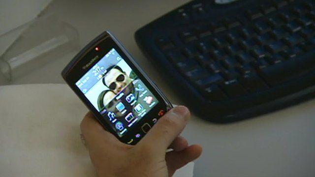 A Blackberry user